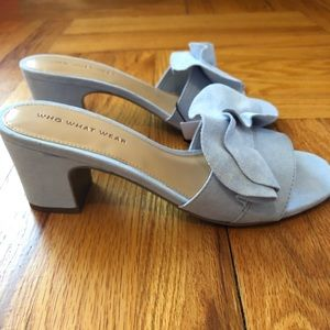 76198c34d Who What Wear Shoes - Who What Where Zadie Blue heeled Sandal 7.5